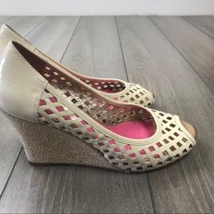 Lilly Pulitzer Cream Wedge Shoes
